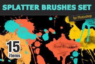 Full library Pricing designtnt brushes splatter small