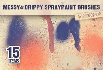 Messy-Spraypaint-PS-Brushes Photoshop Brushes brush|messy|paint|spray