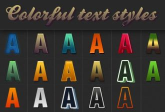 Colorful-Text-Styles-for-Photoshop Add-ons color|graphic|style|text