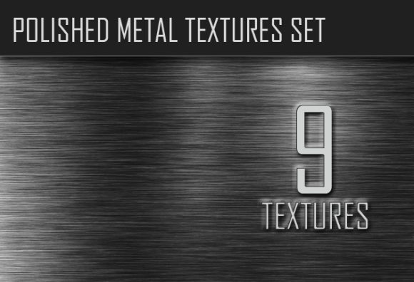 Polished Metal Textures Set designtnt polished metal textures small