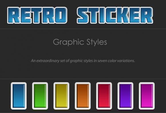 Sticker-Photoshop-Text-Styles designtnt retro stickers text styles small 1