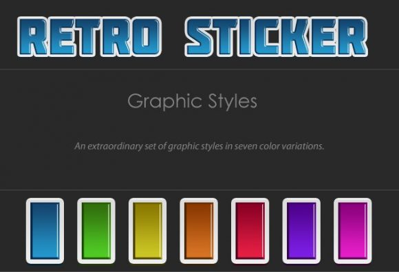 Retro-Stickers-Text-Styles Add-ons retro|sticker|style|text
