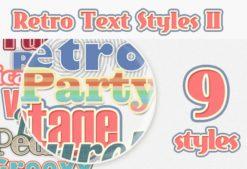 Retro-Text-Styles-Set-2 Addons addon|retro|style|text