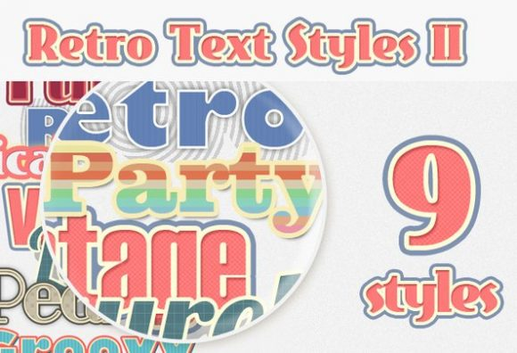 Retro-Text-Styles-Set-2 Add-ons addon|retro|style|text