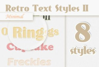 Minimal-Retro-Text-Styles-Set-2 Add-ons addon|minimal|retro|simple|style|text