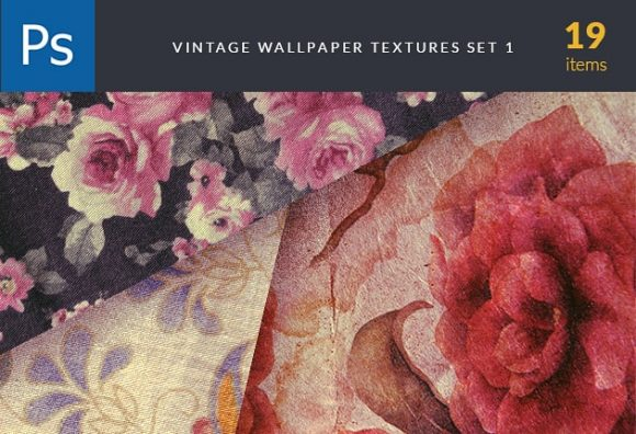 Vintage Wallper Textures Set 1 designtnt textures vintage wallpapers set preview small