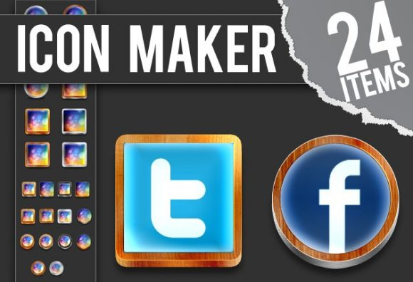 Photoshop-Icon-Maker Add-ons icon|maker|metal|wood