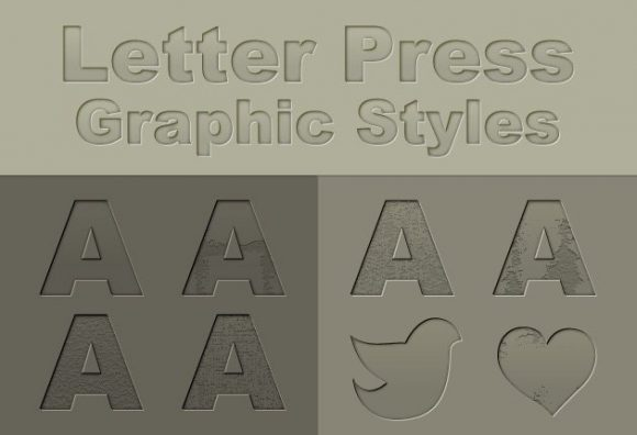 Letterpress-Photoshop-Text-Style Add-ons addon|letterpress|style|text