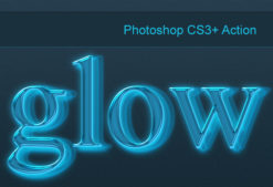 Photoshop-neon-glow-action Addons action|glow|neon|style
