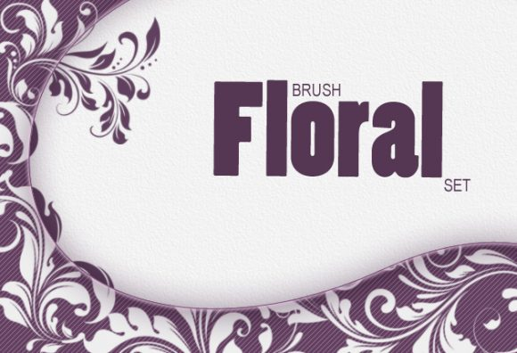 Floral-Ps-brushes-set-1 Photoshop Brushes brushes-2|nature|plant|swirls|floral