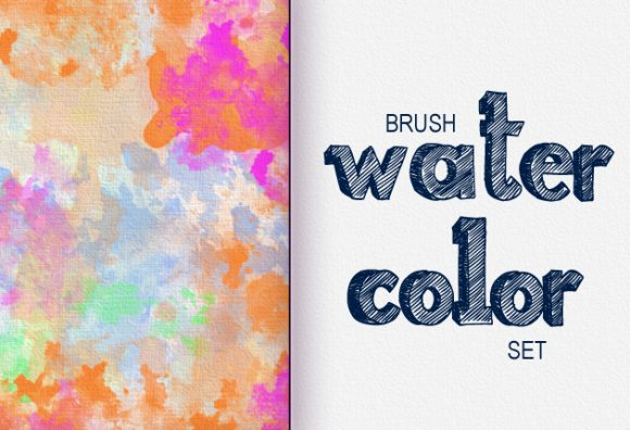 Watercolor-Ps-brushes previews brushes watercolor 1