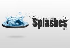 Water splashes textures Textures droplets impact splash water