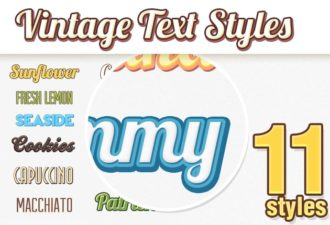 Vintage-Text-Styles Add-ons addon|style|text|vintage