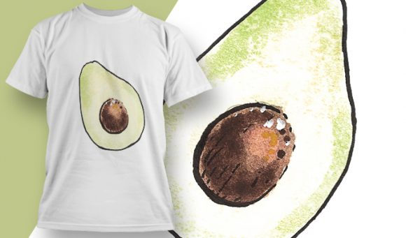 T-shirt Design 1793 - Avocado designious tshirt design 1793