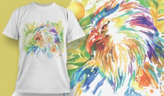 T-shirt Design 1807 – Eagle T-shirt Designs and Templates vector