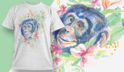 T-shirt Design 1826 – Chimp T-shirt designs and templates vector