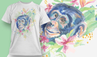 T-shirt Design 1826 – Chimp T-shirt Designs and Templates vector