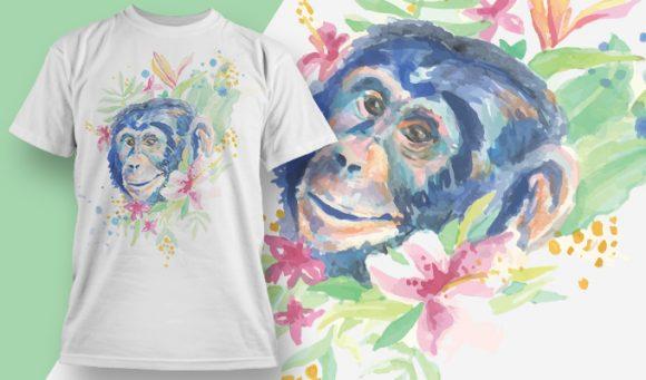 T-shirt Design 1826 - Chimp designious tshirt design 1826