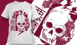 T-shirt Design 1834 – Demon T-shirt designs and templates vector