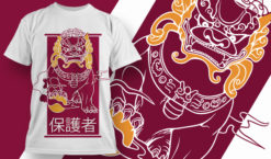 T-shirt Design 1835 – Guardian T-shirt designs and templates vector