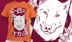 T-shirt Design 1840 – Lone Wolf T-shirt designs and templates vector