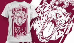 T-shirt Design 1843 – Fury T-shirt designs and templates vector