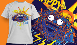 T-shirt Design 1868 – Bipolar T-shirt Designs and Templates vector