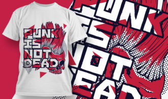 T-shirt Design 1878 – Punk Is Not Dead T-shirt Designs and Templates vector