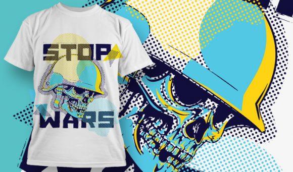 T-shirt Design 1880 - Stop Wars designious tshirt design 1880