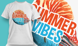 T-shirt Design 1881 – Summer Vibes T-shirt Designs and Templates summer