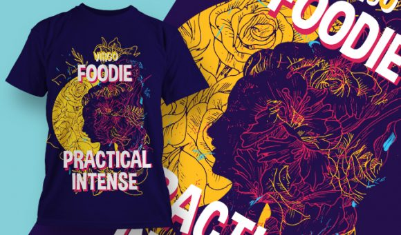 T-shirt design 1890 T-shirt Designs and Templates floral