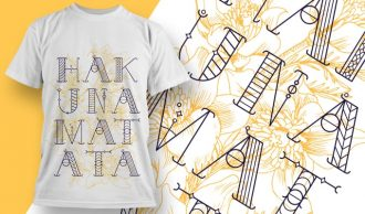 Free Hakuna Matata T-shirt design – 1918 Freebies floral
