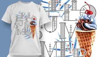 T-shirt design 1922 T-shirt Designs and Templates ice cream