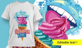 T-shirt design 1923 T-shirt Designs and Templates ice cream