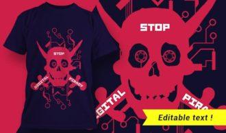 T-shirt design 1973 T-shirt Designs and Templates vector