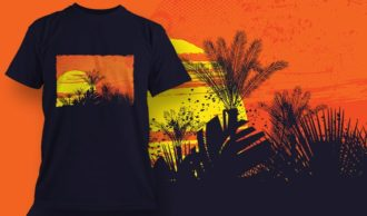 T-shirt design 1999 T-shirt Designs and Templates tropical