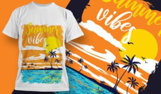 T-shirt design 2001 T-shirt Designs and Templates tropical