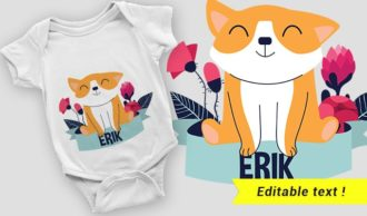 T-shirt design 2052 T-shirt Designs and Templates vector