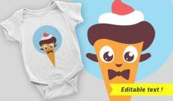 T-shirt design 2057 T-shirt designs and templates ice cream