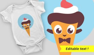 T-shirt design 2057 T-shirt Designs and Templates ice cream