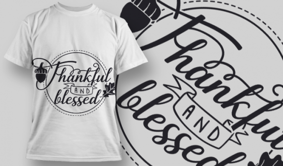 2117 Thankful and Blessed SVG Quote 5