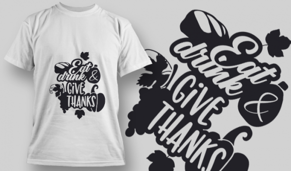 2137 Eat Drink Give Thanks SVG Quote 2137 Eat Drink Give Thanks