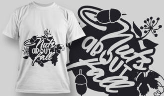 2139 Nuts About Fall 1 SVG Quote T-shirt Designs and Templates vector