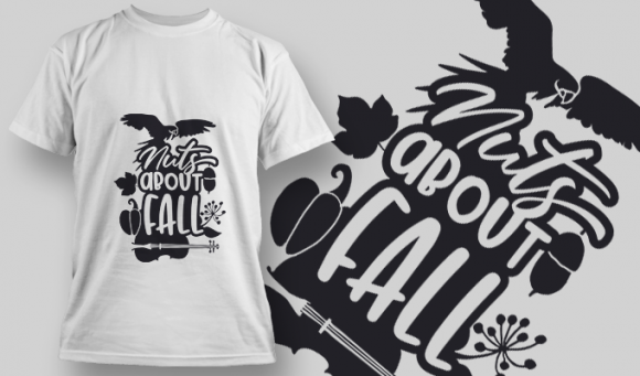 2140 Nuts About Fall 2 SVG Quote 2140 Nuts About Fall 2