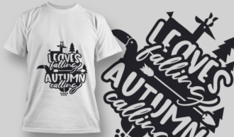 2147 Leaves Falling Autumn Calling 1 SVG Quote T-shirt Designs and Templates tree