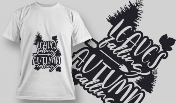 2148 Leaves Falling Autumn Calling 2 SVG Quote 5
