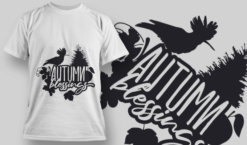 2157 Autumn Blessings 2 SVG Quote T-shirt designs and templates tree