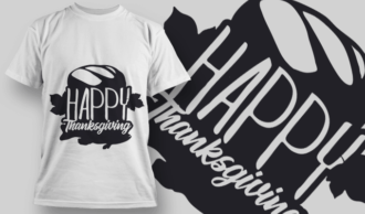 2160 Happy Thanksgiving 4 SVG Quote T-shirt Designs and Templates leaf