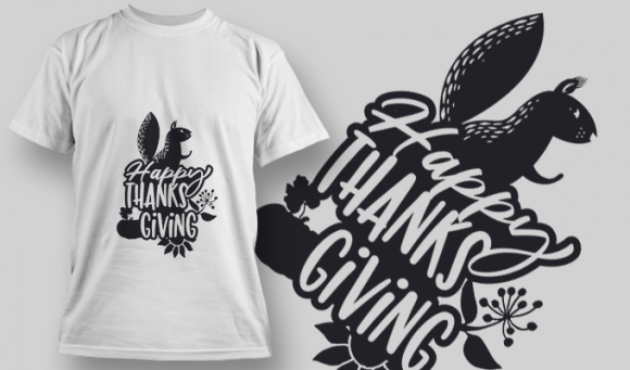 2163 Happy Thanksgiving 1 SVG Quote T-shirt Designs and Templates vector