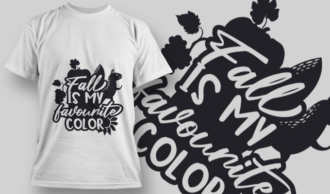 2164 Fall is My Favourite Color SVG Quote T-shirt Designs and Templates vector